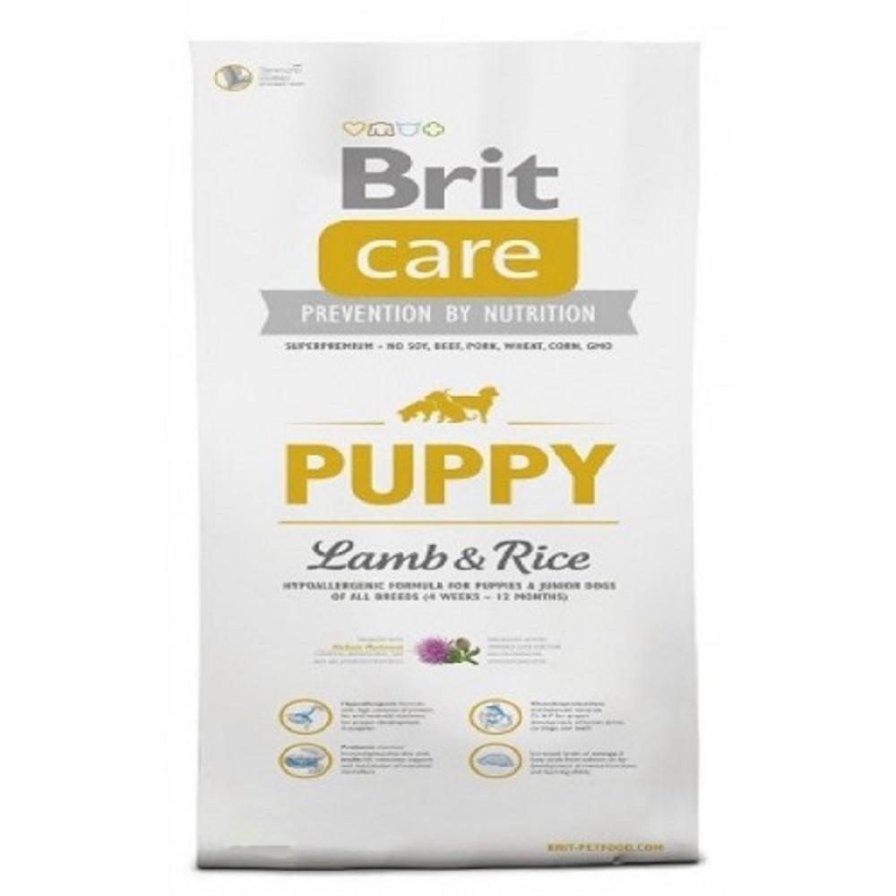 Brit care Puppy - jehněčí s rýží 3kg