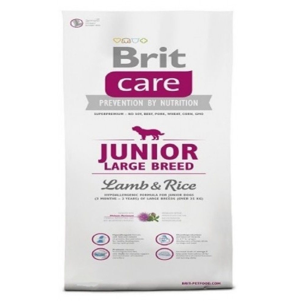 Brit care Junior LB - jehněčí s rýží 3kg