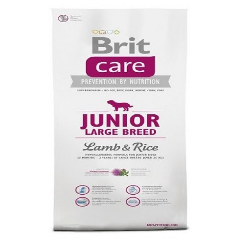 Brit care Junior LB - jehněčí s rýží  1kg