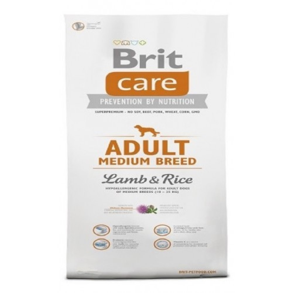 Brit care 12kg MB Adult jehněčí s rýží