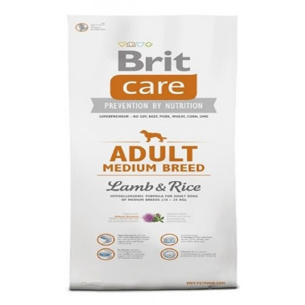 Brit care 3kg MB Adult jehněčí s rýží