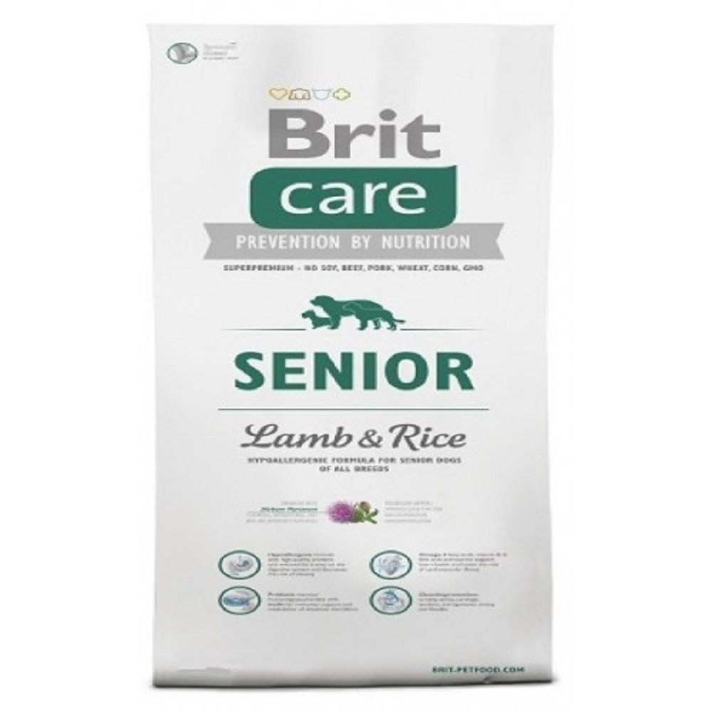 Brit care 3kg Senior jehněčí s rýží
