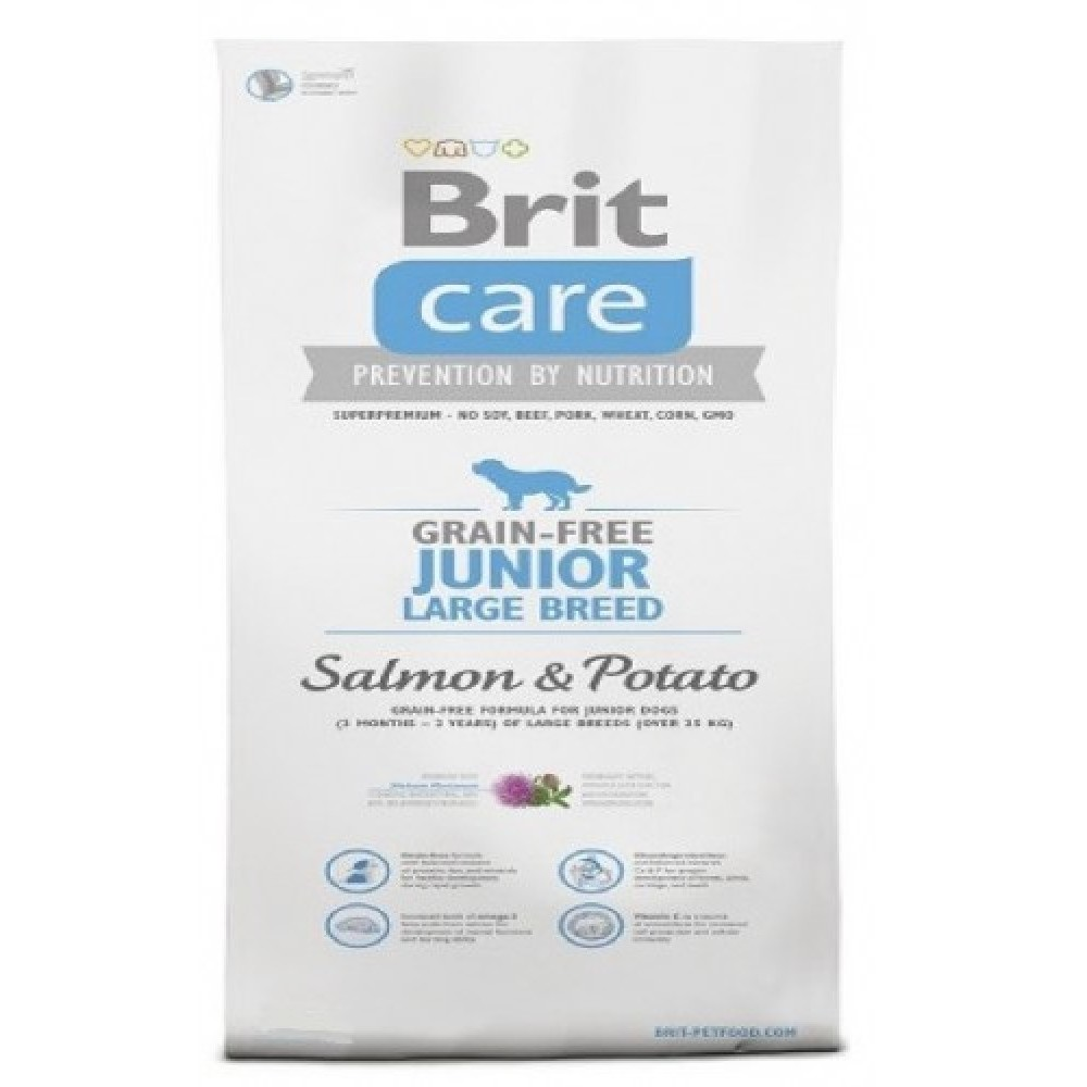 Brit care 12kg LB Junior losos s bramborem
