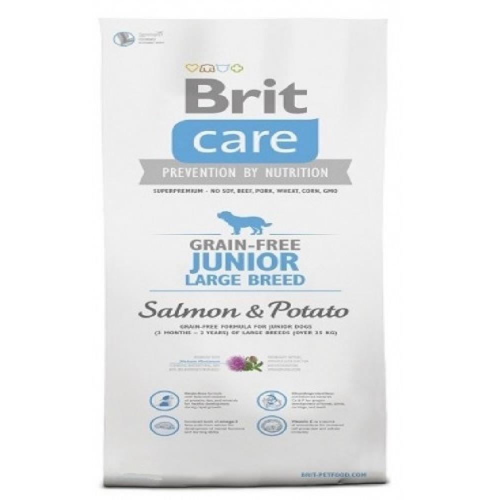 Brit care 12kg LB Junior losos s bramborem (grain-free)