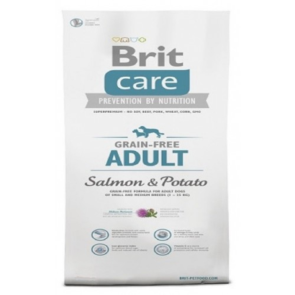 Brit care Adult - losos s bramborem 3kg