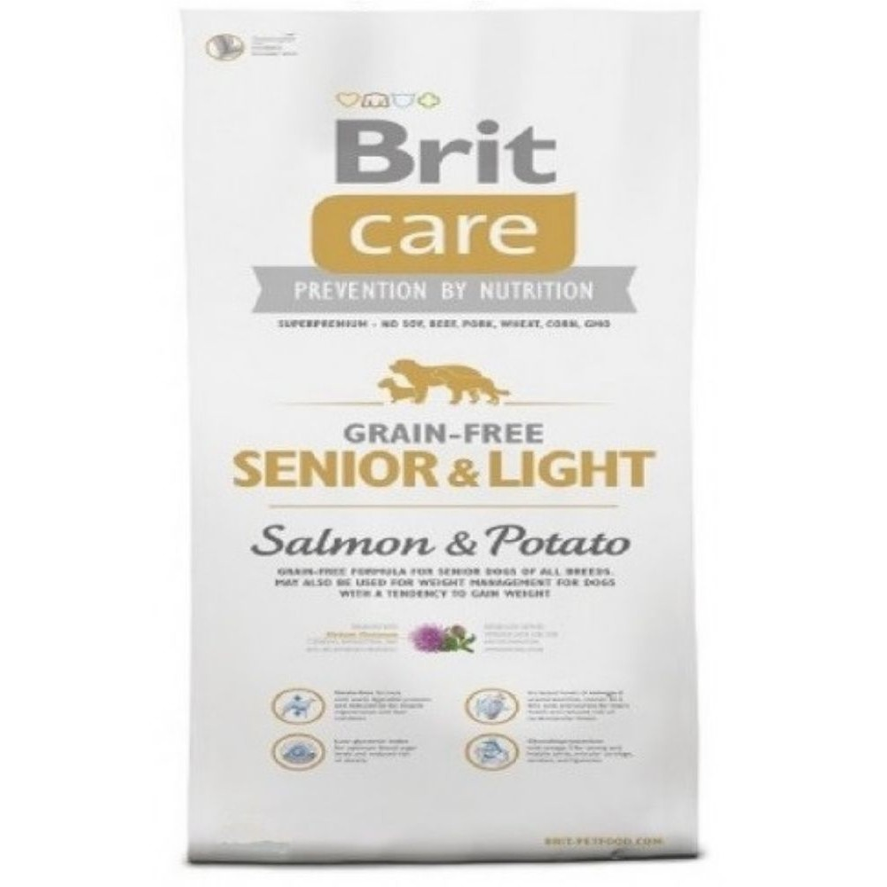 Brit care Senior/Light - losos s bramborem 12kg