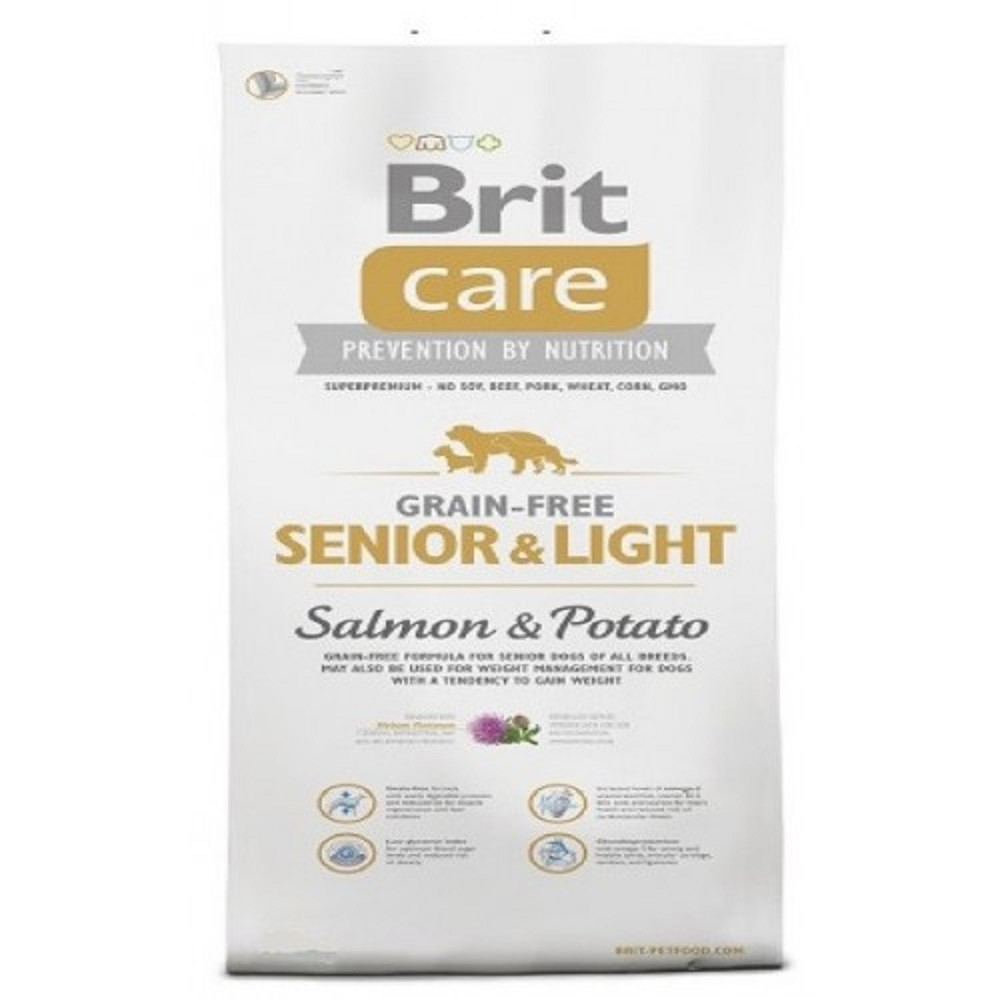 Brit care 1kg senior/light losos s bramborem