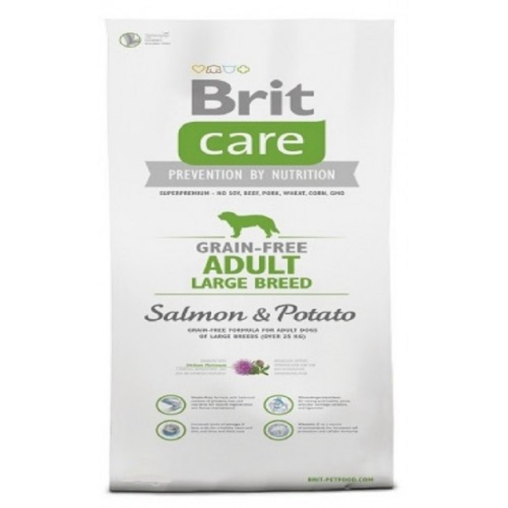 Brit care Adult LB - losos s bramborem 1kg