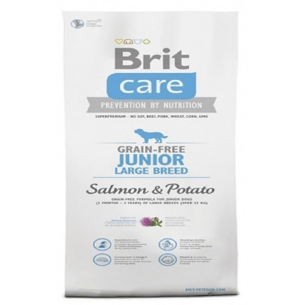 Brit care 1kg LB junior losos s bramborem
