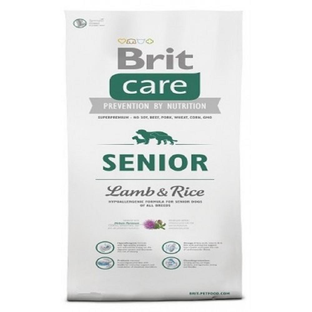 Brit care 12kg Senior jehněčí s rýží