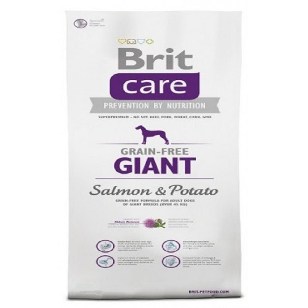 Brit care Giant Adult - losos s bramborem 1kg