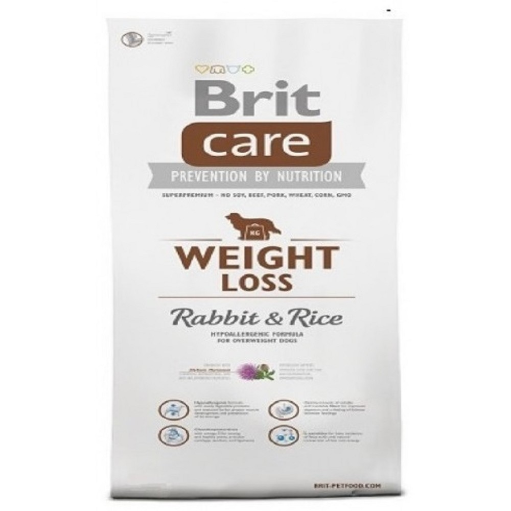 Brit care Weight Loss - králík s rýží 12kg