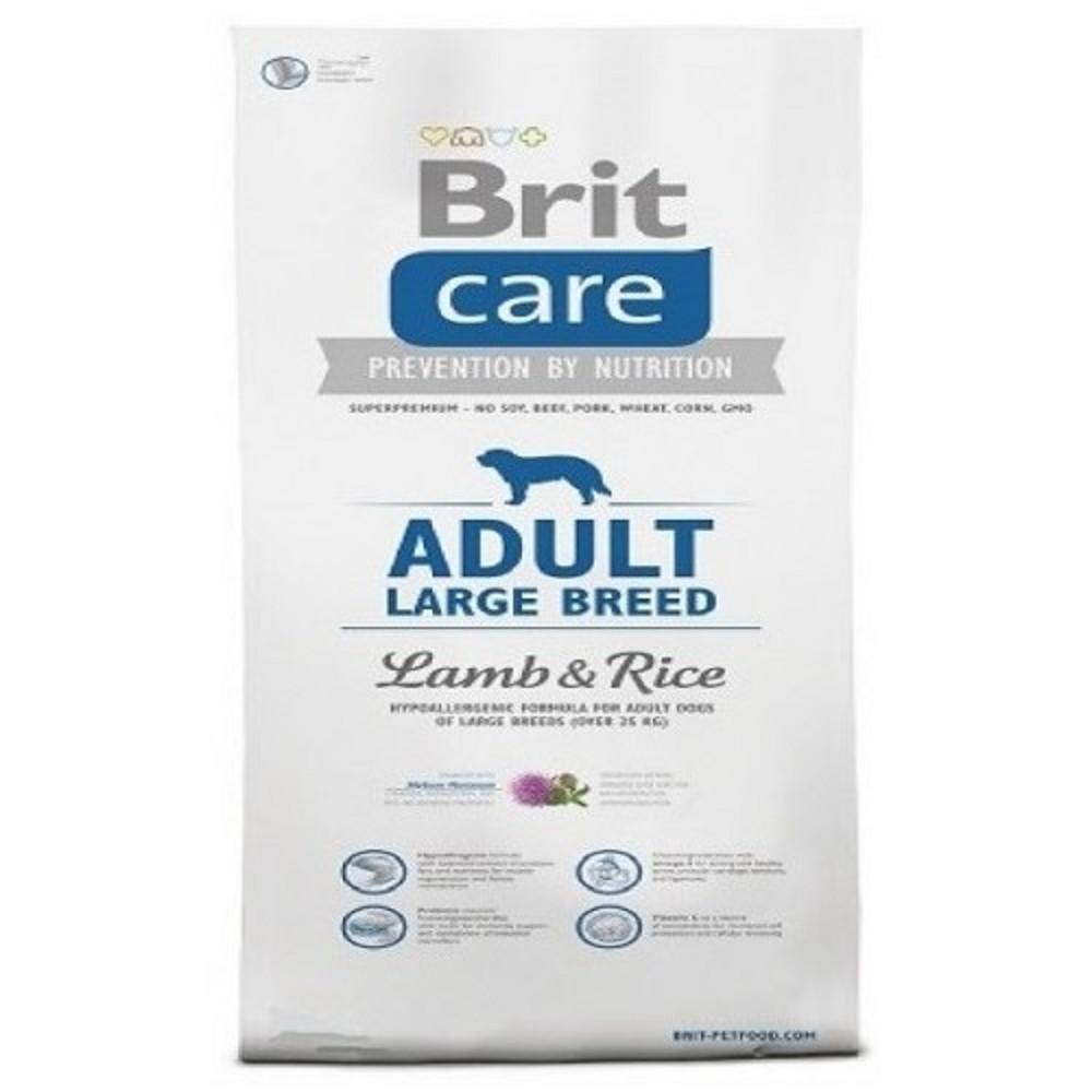 Brit care Adult LB -  jehněčí s rýží 3kg