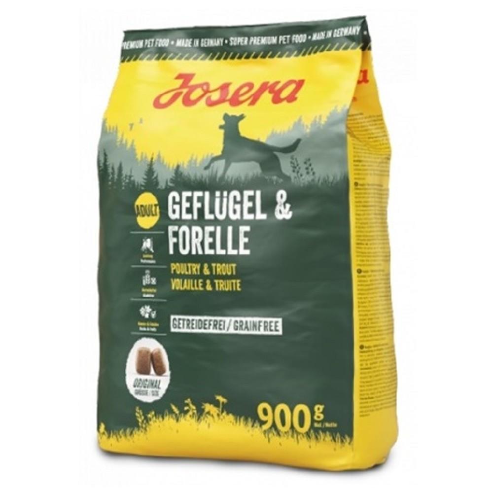 Josera Geflügel - Forelle pro aktivní psy  900g + 1ks ZDARMA