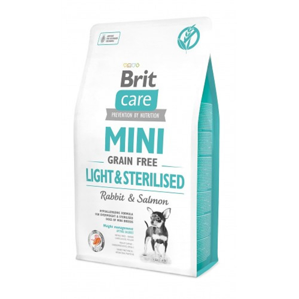 Brit Care Mini Light/Sterilised - králík s lososem 2kg