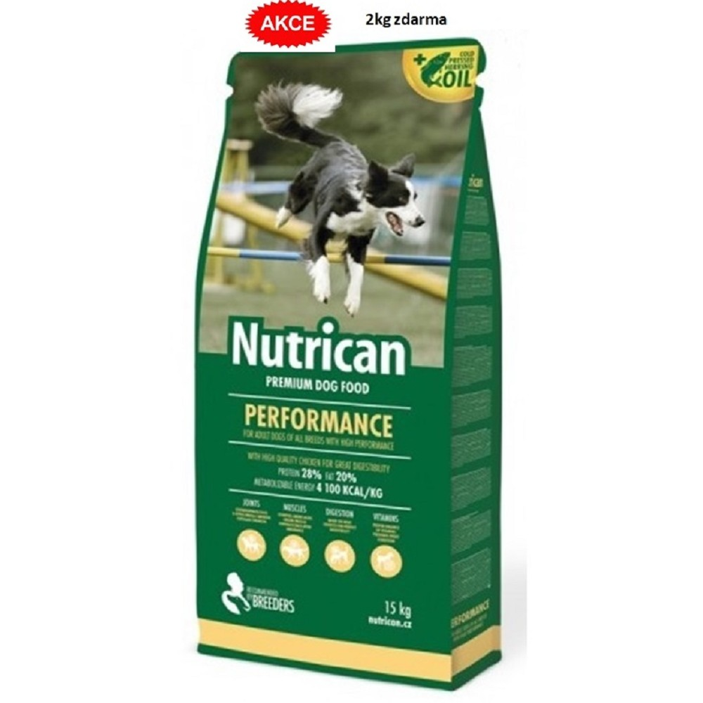Nutrican Performance dog 15+2kg ZDARMA