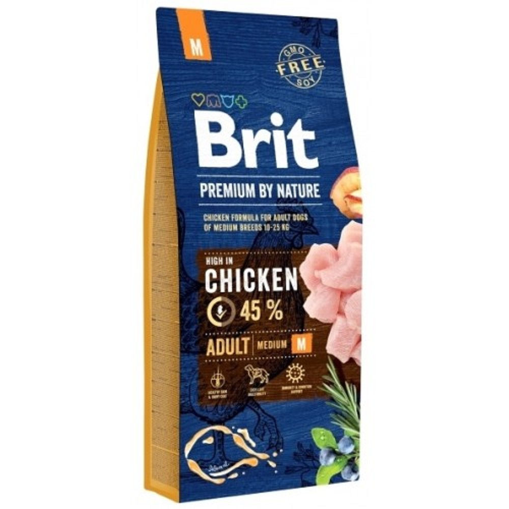 Brit premium Nature Adult M 15kg