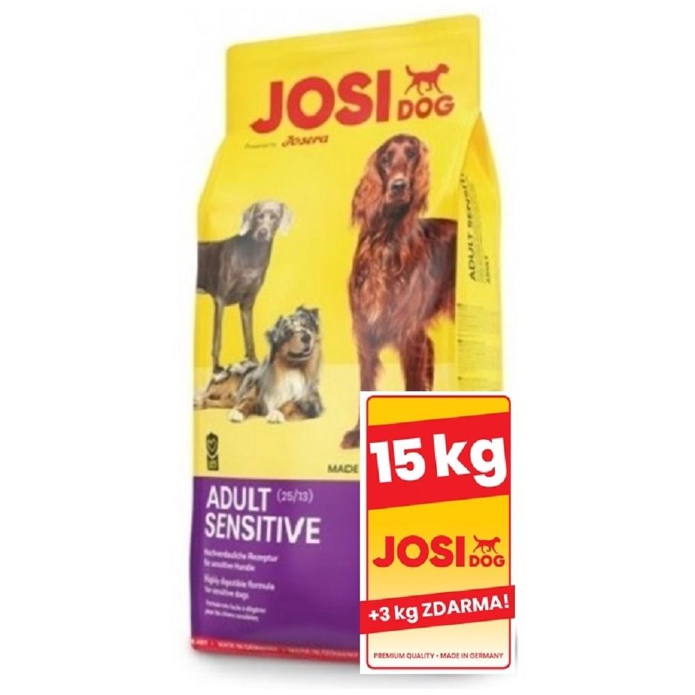 JosiDog Adult Sensitive 15+3kg ZDARMA