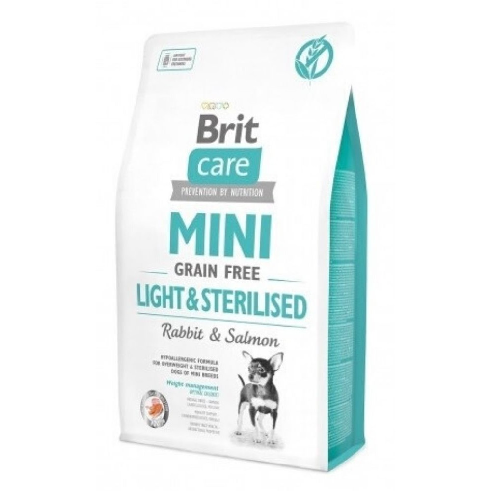 Brit Care Mini 7kg  light/sterilised králík s lososem (grain-free)grain free