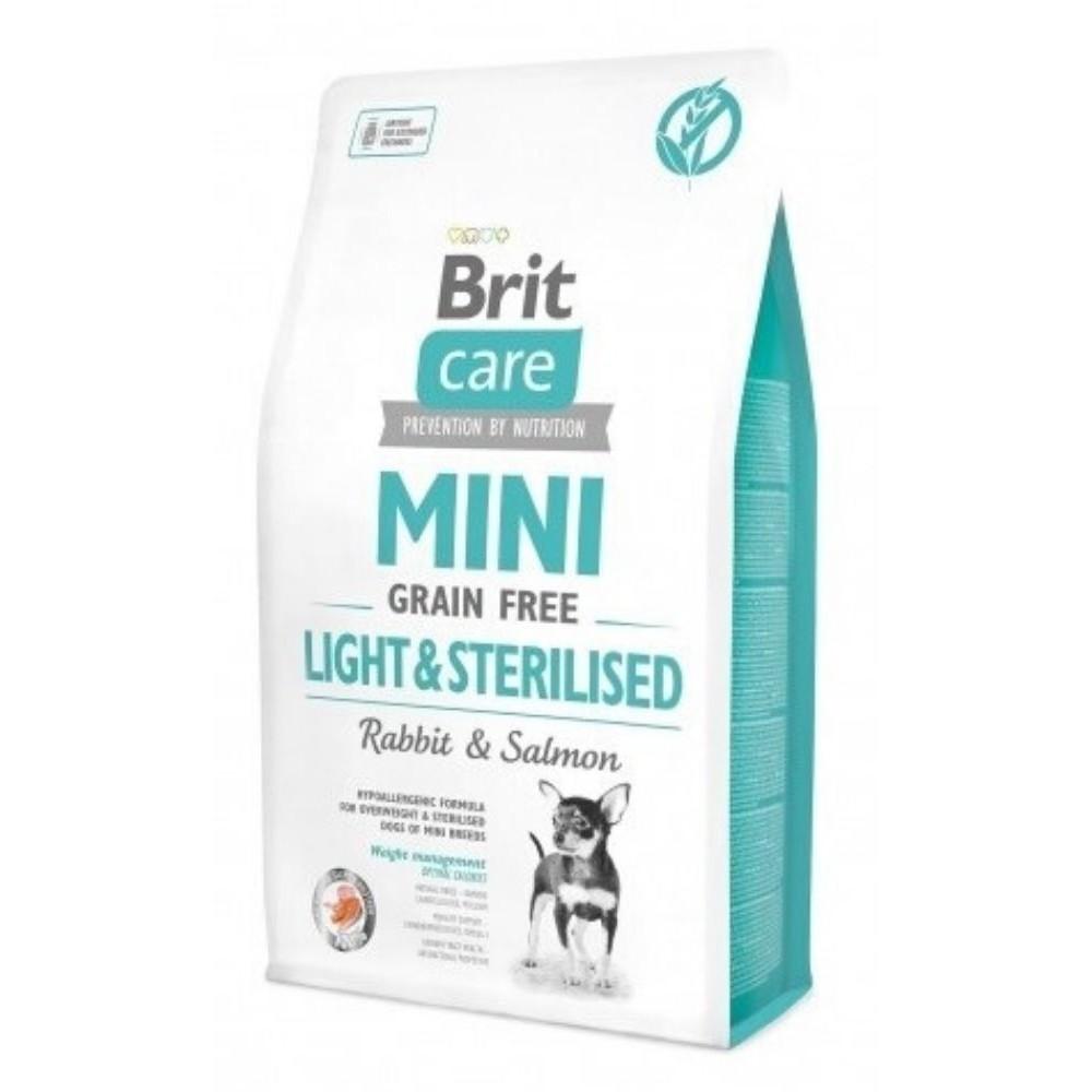Brit Care Mini 7kg light/sterilised králík s lososem