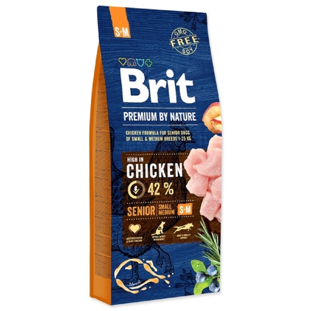Brit premium Nature Senior S/M 8kg