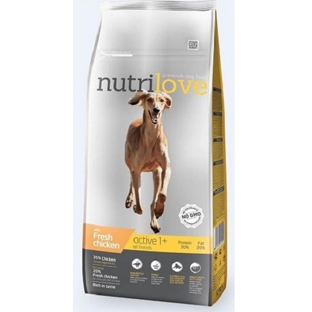 Nutrilove active kuřecí 12kg