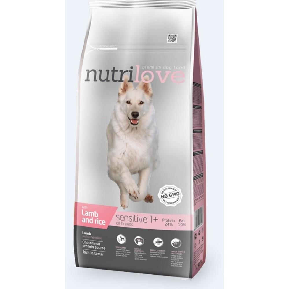 Nutrilove Sensitive jehněčí 3 kg