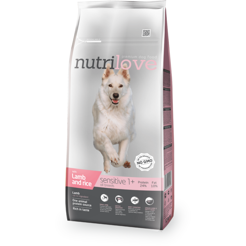 Nutrilove Sensitive jehněčí 12kg