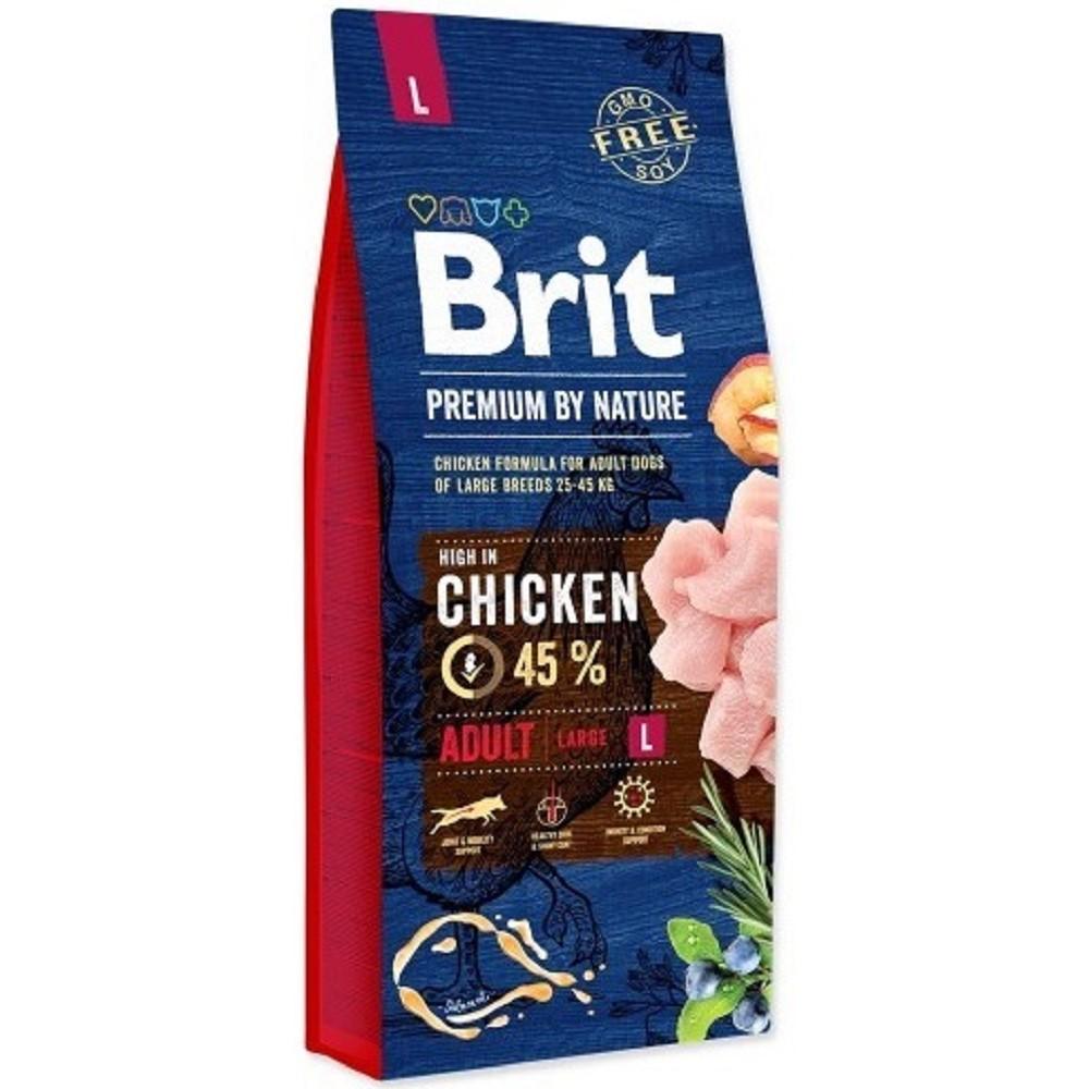 Brit premium Nature Adult L 15kg + 3kg ZDARMA
