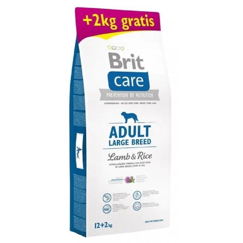 Brit care Adult LB Lamb & Rice 12+2kg ZDARMA