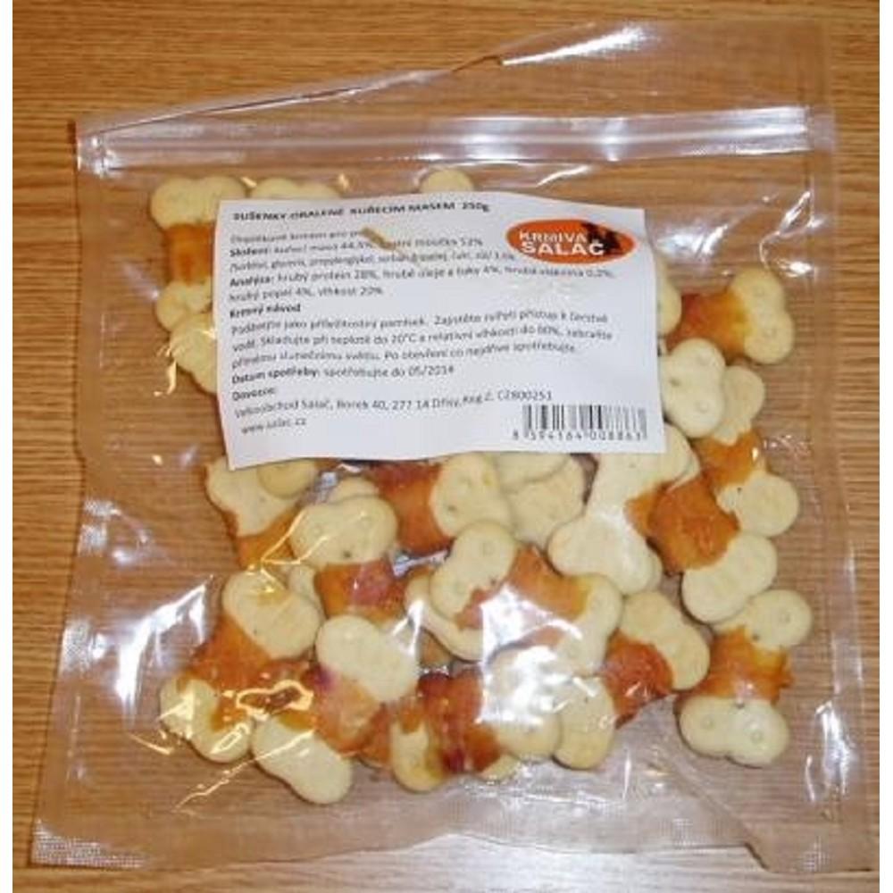Sušenky obalené kuřecím masem 250g