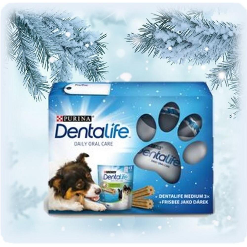 Purina Dentalife medium - vánoční balíček 3x115g