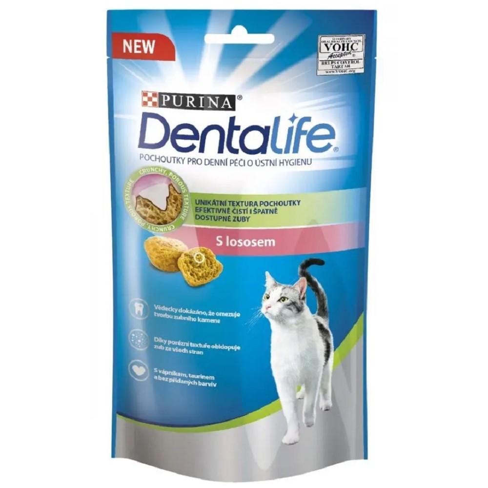 Purina Dentalife Cat - losos 40g