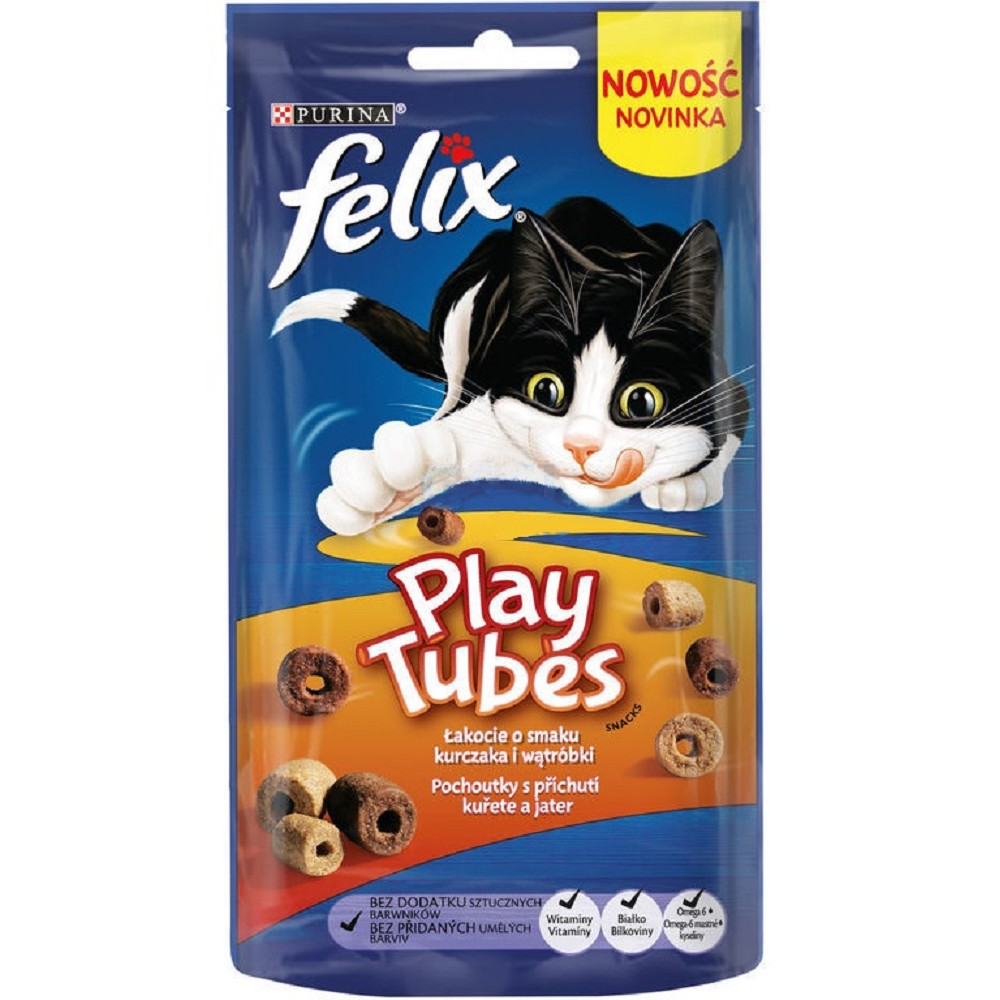 Felix Play Tubes - kuře a játra 50g
