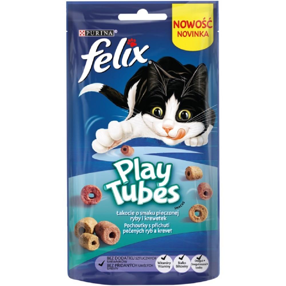 Felix Play Tubes - ryba a kreveta 50g