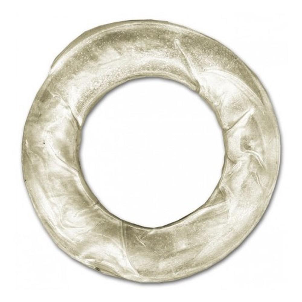 Kroužek buvolí bílý 7cm - 10ks