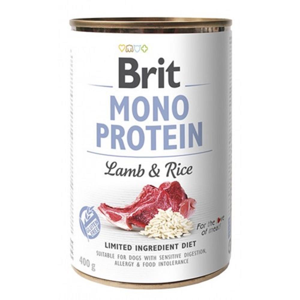 Brit Mono Protein jehněčí s rýží 400g