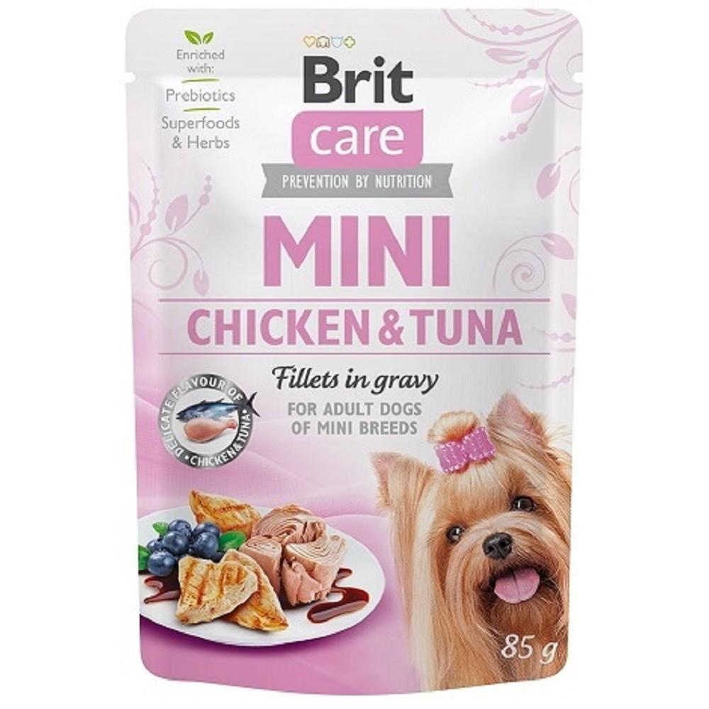 Brit Care Mini Chicken&Tuna fillets in gravy 85g