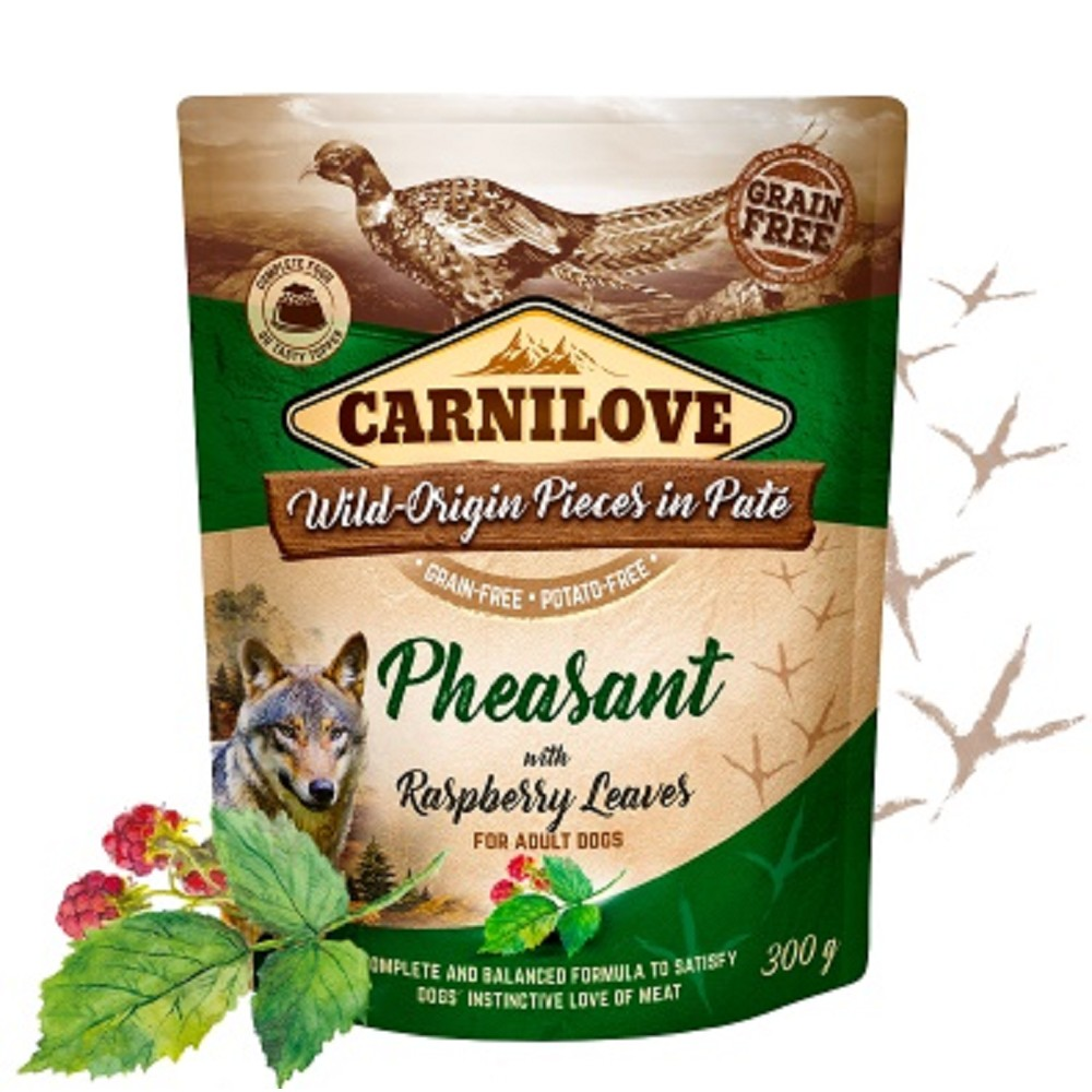 Carnilove Pouch Paté Pheasant with Raspberry Leaves 300g