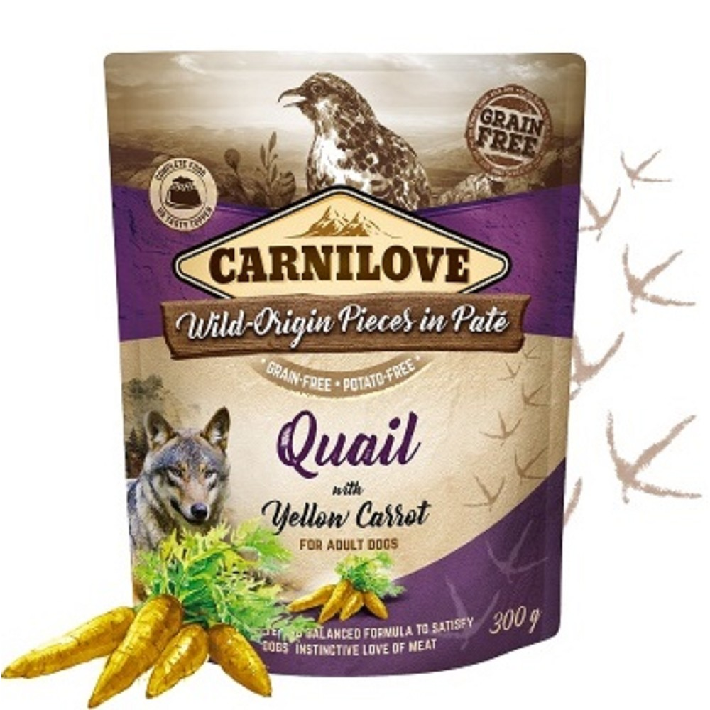 Carnilove Pouch Paté Quail with Yellow Carrot 300 g