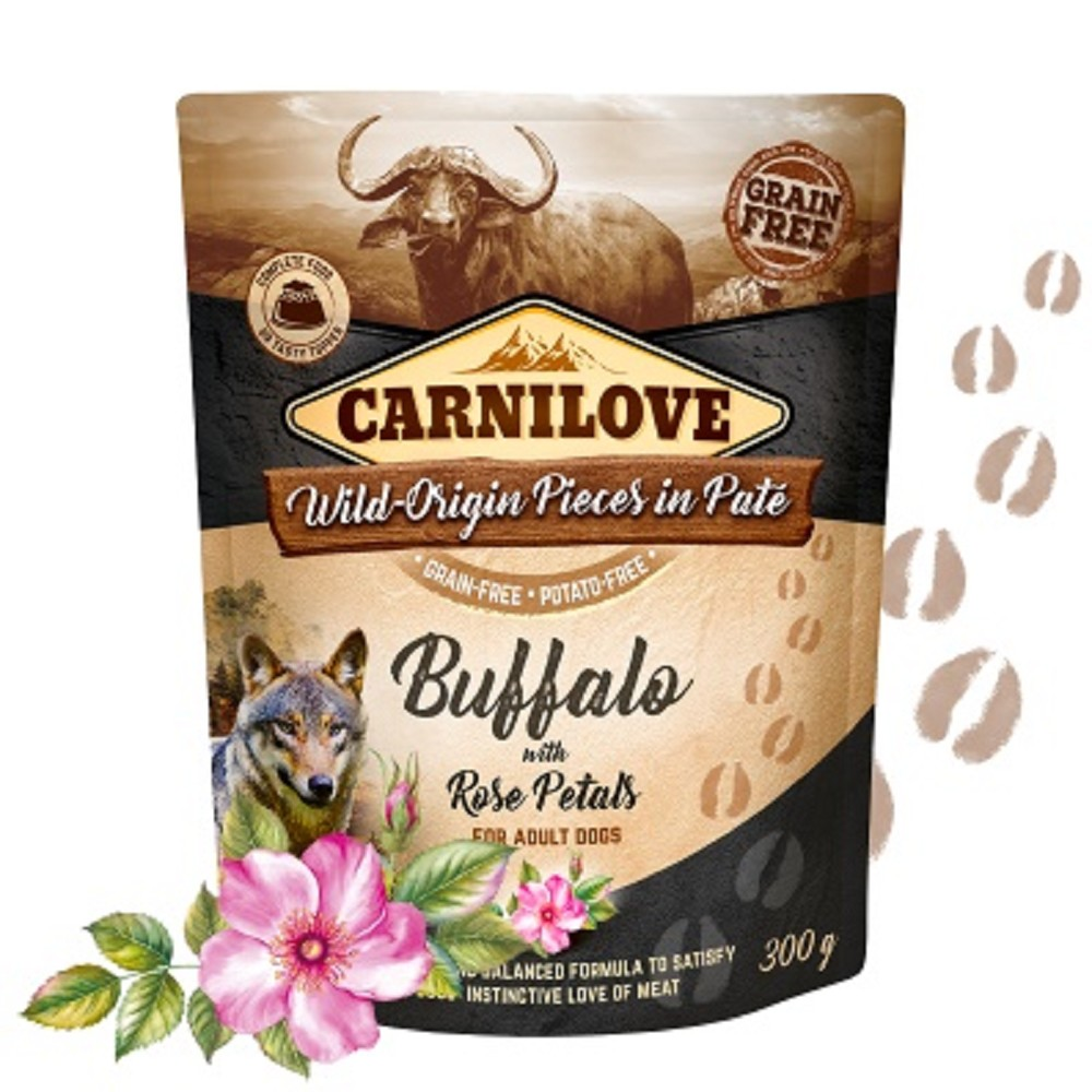 Carnilove Pouch Paté Buffalo with Rose Petals 300g