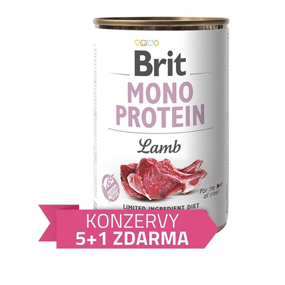 Brit Mono Protein Jehněčí 400g - 5+1 zdarma