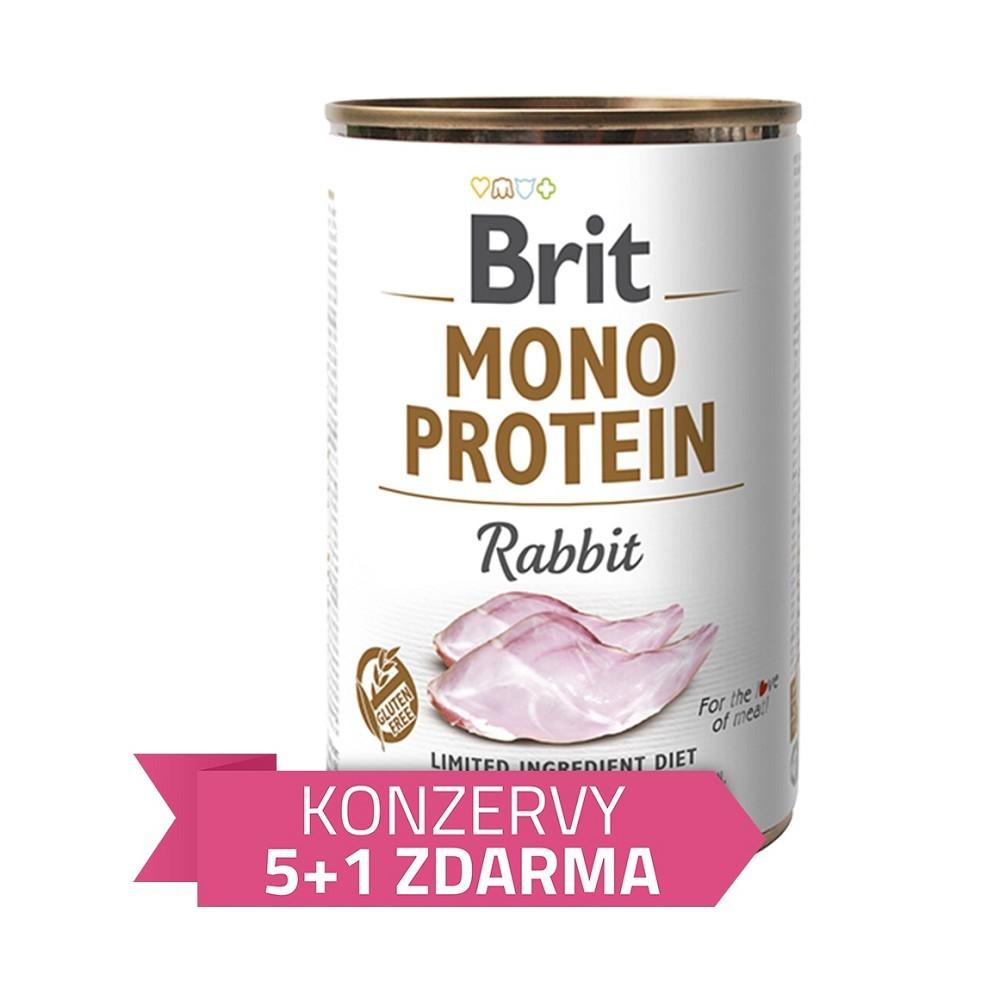 Brit Mono Protein Králík 400g - 5+1 zdarma