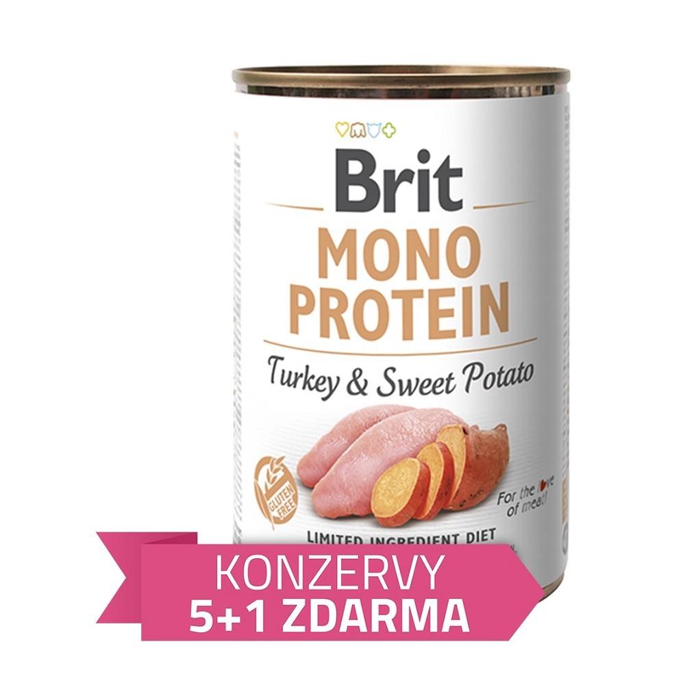 Brit Mono Protein Krůta s bramborem 400g + 5+1 zdarma