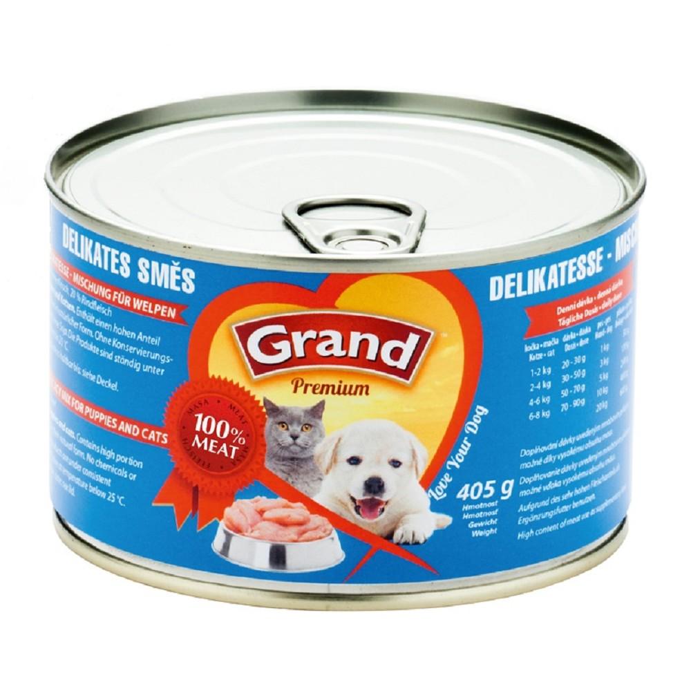 Grand  drůbeží a hovězí pro štěně a kočky 405g