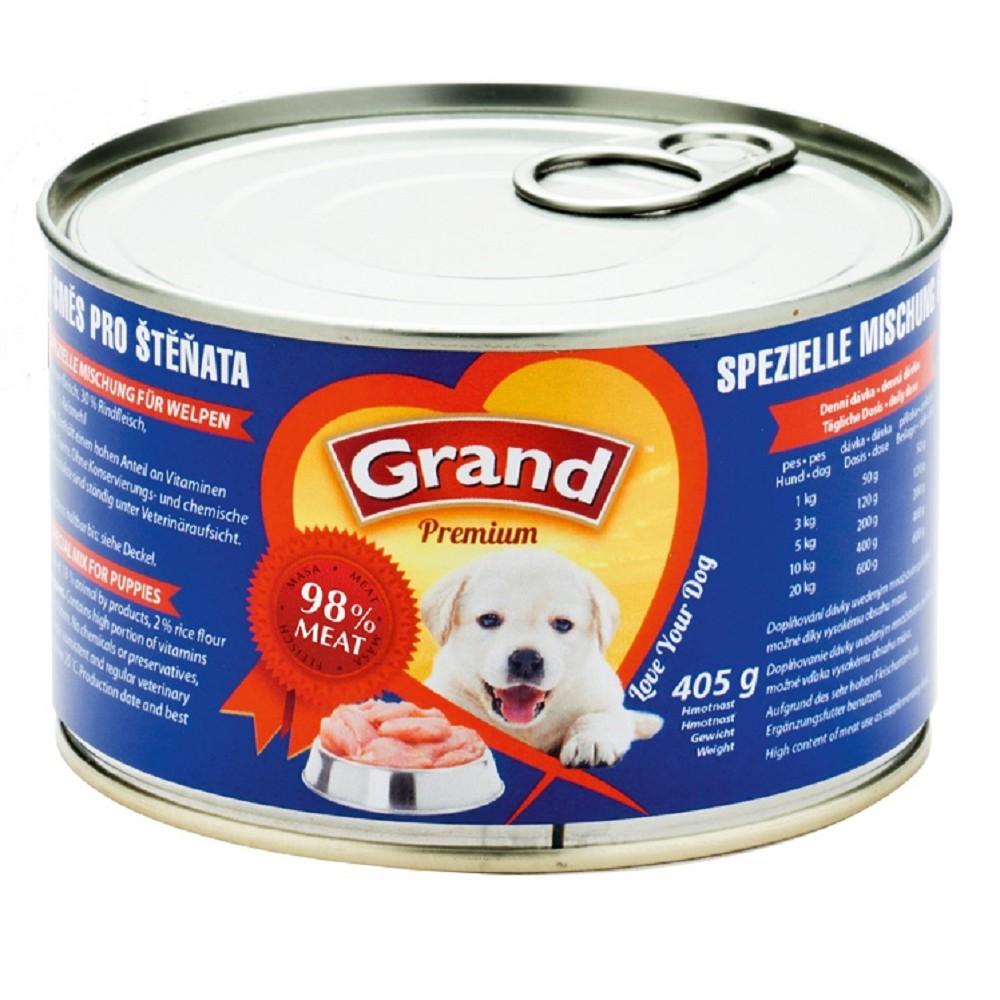Grand drůbeží a hovězí pro štěně  405g