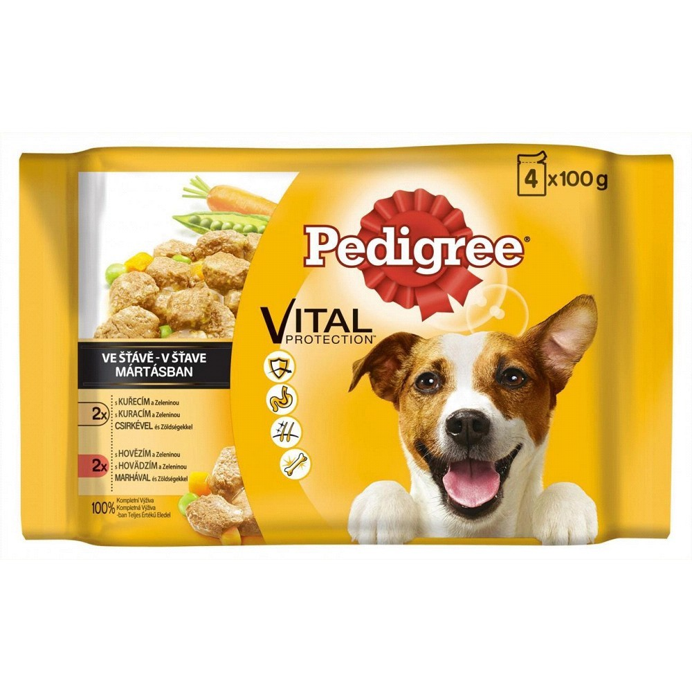 Pedigree ve šťávě mix 4x100g