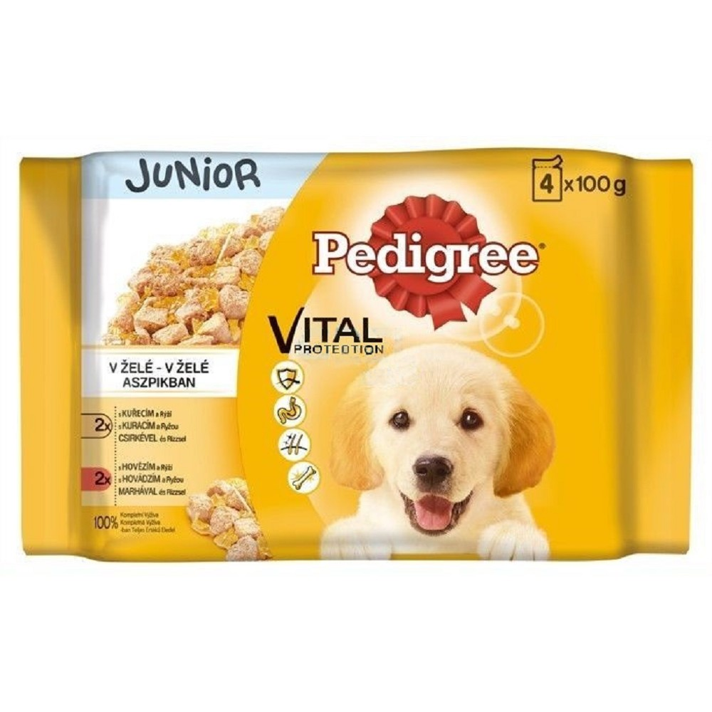 Pedigree junior - kuřecí + krůtí 4x100g