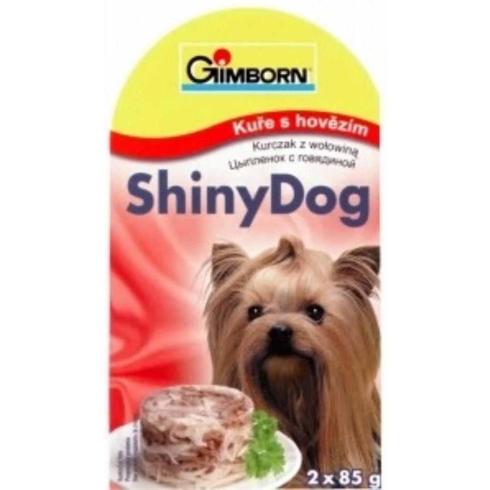 Shiny dog - kuře s hovězím 2x85g