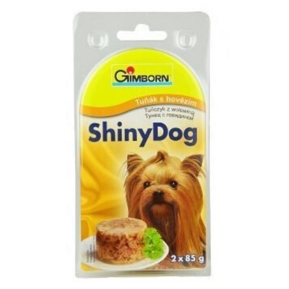 Shiny dog - tuňák s hovězím 2x85g